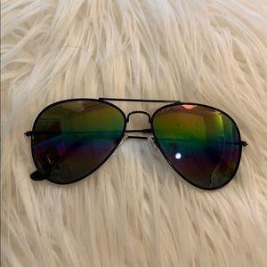Accessories - Rainbow and Black Aviator Sunglasses